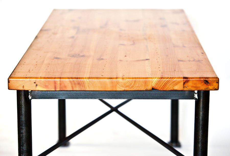 Custom Metal Wood Dining Table